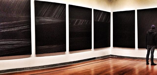 """""""Soulages XXIe Siècle"""", Musée des Beaux-Arts de Lyon, 2012."""