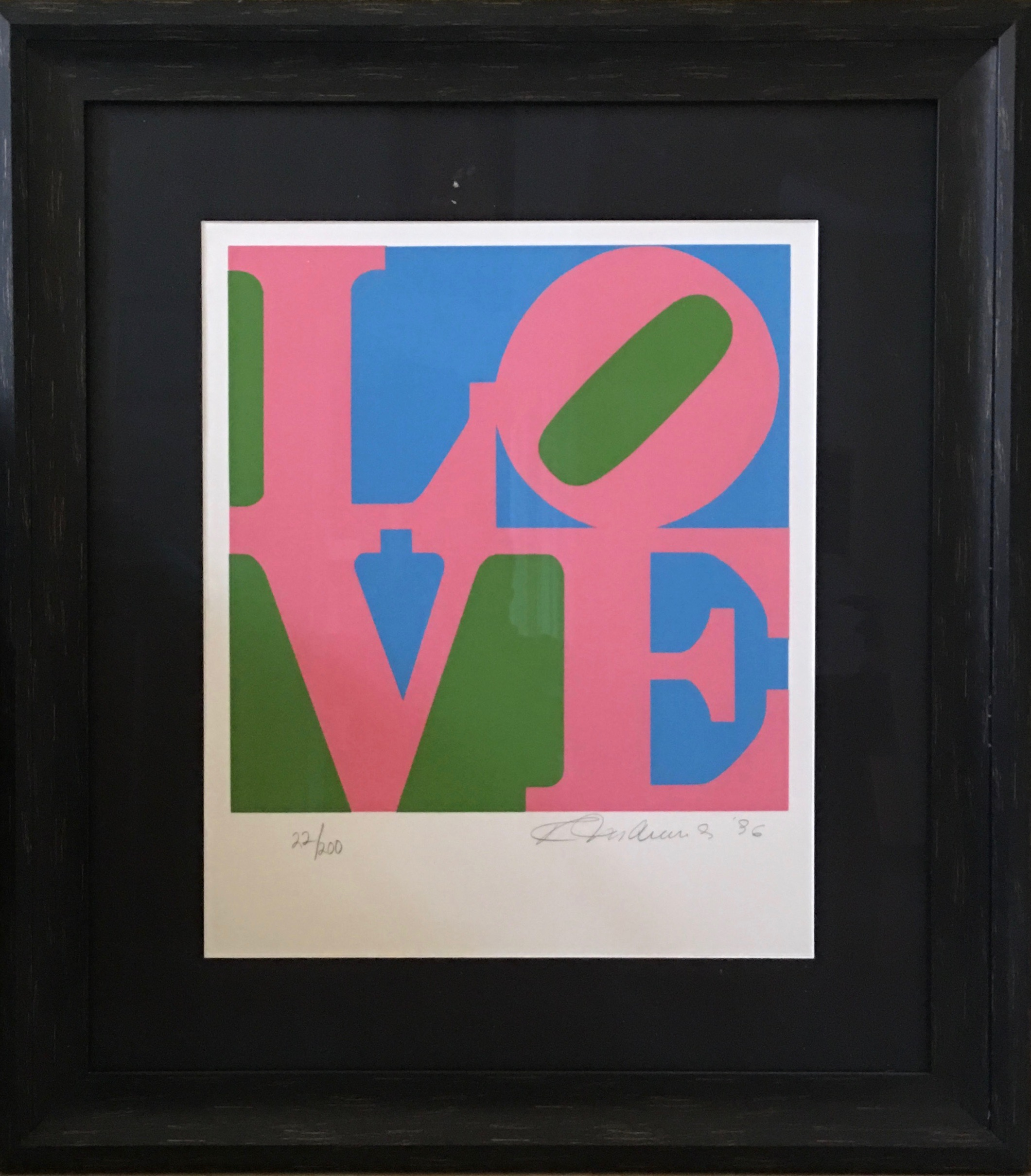 Robert Indiana screenprint The Book of Love 1996