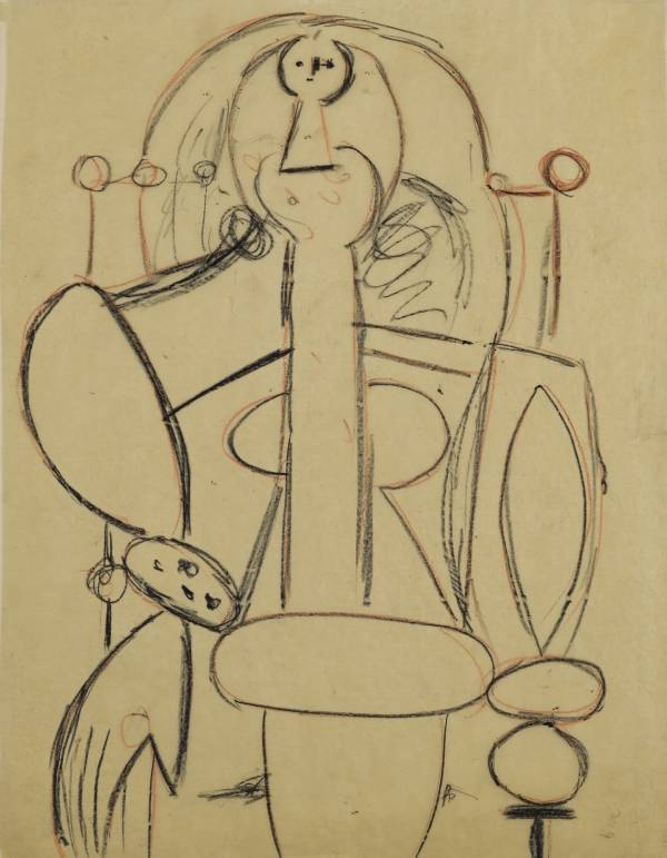 Picasso drawing woman in an armchair